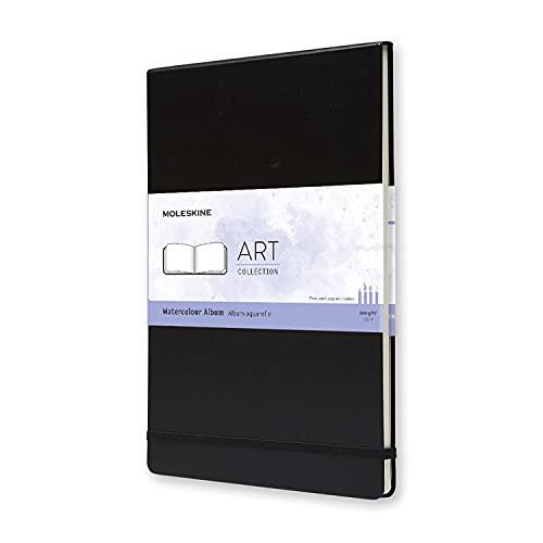 Moleskine Art Watercolor Album, Hard Cover, A4 (8.25' x 11.75') Plain/Blank, Black, 60 Pages