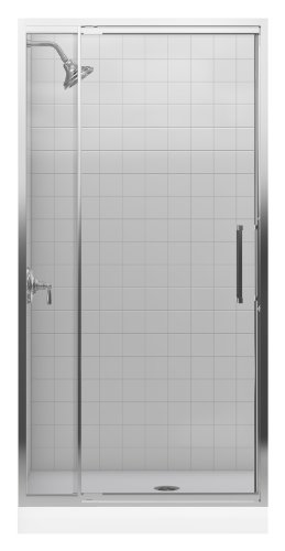 Learn More About Kohler K-705818-L-SH Lattis 3/8 Pivot Door, Bright Silver