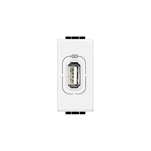 BTicino N4285C Caricatore USB per Cellulare, Smartphone, Tablet e Similari, 1 Posto