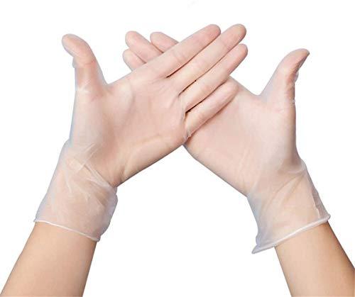 Vinylhandschuhe in Gr. L | 100 Stück Transparent | Vinyl Einweghandschuh Einzelhandschuhe in praktischer Spenderbox | Ideal für Hygienebereiche - wie Lebensmittelbranche, Kosmetik UVM. | latexfrei (L)