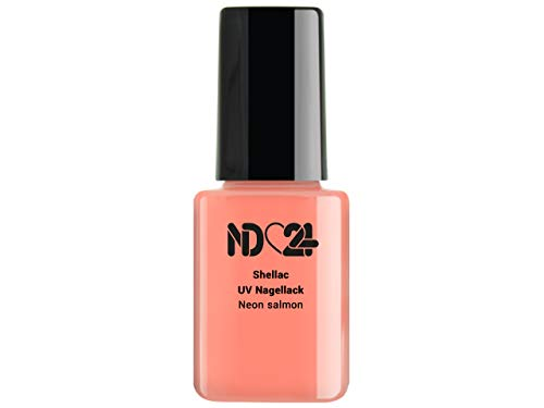12ml - SHELLAC UV/LED Nagellack - Neon salmon - LACHS - Polish Gel-Lack Soak Off - Studio Qualität...