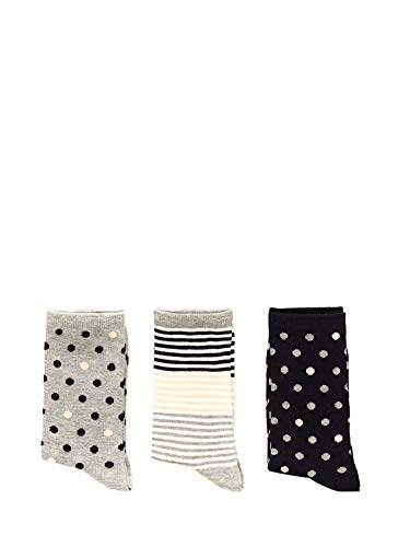 Pepe Jeans Evelyn Socken für Damen, mehrfarbig, 3er-Pack, Mehrfarbig 35