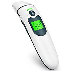 Infrared Thermometer for Adults Thermometer Forehead Ear Thermometer Baby Thermometer for Fever Alarm Digital Thermometer for Babies, Children, Adults