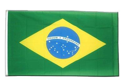 Brasilien Flagge, brasilianische Fahne 90 x 150 cm, MaxFlags®