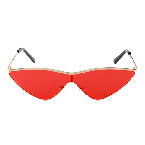 Gafas de sol Mujeres Vintage Rojo Gato Ojo Gafas De Sol Mujeres Gran Marco Aleación Gafas De Sol Mujer Espejo Reflectante UV400 Gafas