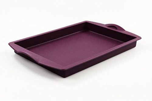 TUPPERWARE Backen Silikonform Backform 1,0L lila eckig Silikon Blechkuchen 27962