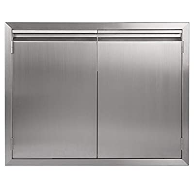 """JIE JIN BBQ Access Door 31"""" W × 24"""" H, 304 Stainless Steel Outdoor Kitchen Accessories Door for Indoor/Outdoor Kitchen, Outdoor Cabinet, BBQ Island"""
