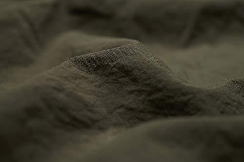 L1NK STUDIO Funda Almohada Cama de 90 cm (45X110cm) 100% algodón (Percal 200 Hilos) Oliva