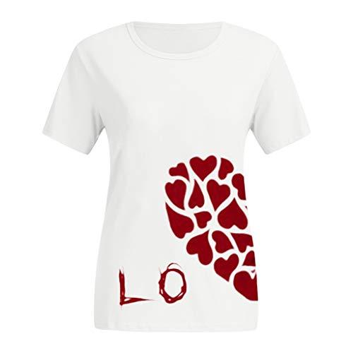 Cuteelf Love Partner Look Pärchen Valentinstag Männer Paare Liebhaber Kurzarm Oansatz Liebesbrief Drucken T Shirts Tops Blusen Ich Liebe Dich Paar Kurze Ärmel