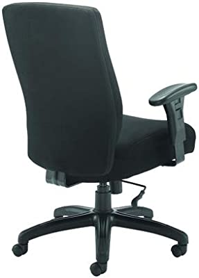 Office Hippo Office Chair Heavy Duty, Computer Chair for Desk, Computer Chair with Adjustable Arms, Swivel, Black