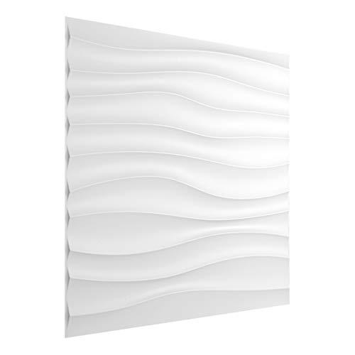 25 qm   3D Platten Kunststoff   PVC Paneele   Wand- und Deckenverkleidung   Schlag- Stoss- und Wasserfest   Dekorplatten   3 Dimensional   50x50cm   HD105