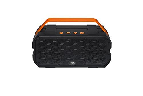 Mac Audio BT Wild 801 | Bluetooth-Lautsprecher für iOS und Android | 10 Stunden Akkulaufzeit | zusätzlicher Bassradiator - schwarz/orange