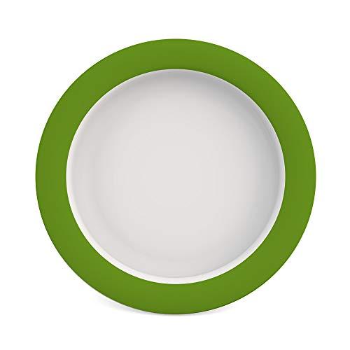 Ornamin Teller mit Kipp-Trick Ø 26 cm grün (Modell 901) / Spezialteller mit Randerhöhung, Anti-Rutsch-Teller Kunststoff