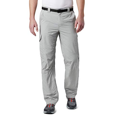 Columbia Silver Ridge - Pantalón Cargo para Hombre, Transpirable, protección Solar UPF 50, Color Plateado Ridge, Hombre, 1441681, Columbia Gris, 36W / 32L