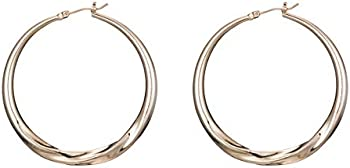 Strpan89 40MM-60MM Copper Material Hypoallergenic Hoop Earrings