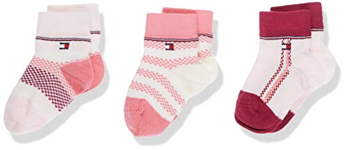 Tommy Hilfiger Unisex Baby TH 3P GIFTBOX NEWBORN Socken, Mehrfarbig (Pink Combo 174), One Size (Herstellergröße: 014) (3er Pack)