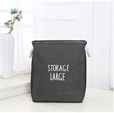 ForShop Foldable Storage Toy Container Laundry Dirty Clothes Sundries Organizer Rope Basket Thickened Double Storage Bucket
