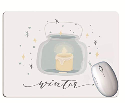 Gaming Mouse Pad, Bottled Candle, Solid Color Background, Wear-Resistant And Durable Rubber, Office Gaming Computer Gaming Mouse Pad