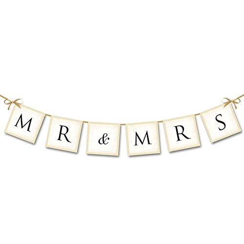 Mr and Mrs Banner Hochzeit 77 cm