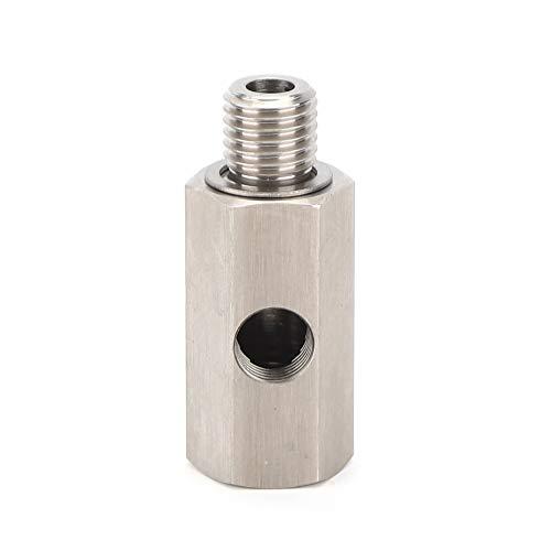 KIMISS Edelstahl-Öldrucksensor-T-Stück 1/8 Zoll NPT-Turbo-Ölzufuhranschluss, der mit Dichtungsteilen ausgestattet ist(M12*1.5)