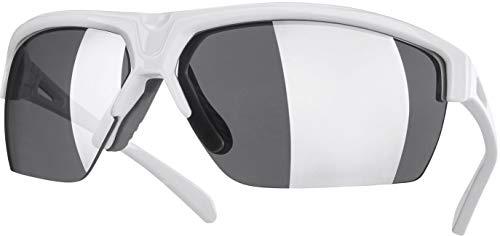 Crivit® Sport-Sonnenbrille, Halbrand (SP-1483, weiß glänzend)