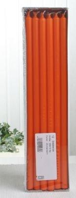 Stabkerzen, 30 x 1,2 cm Ø, 12er-Pack, mandarin-orange
