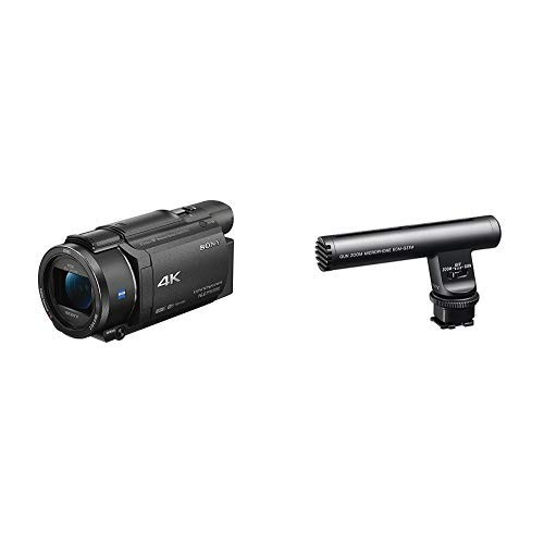 Sony FDRAX53/B 4K HD Video Recording Camcorder (Black) with Microphone