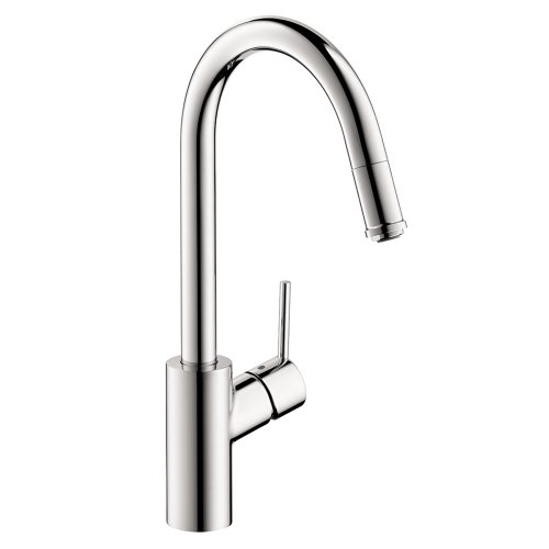 hansgrohe Talis S² Easy Install 1-Handle 16-inch Tall Kitchen Faucet with Pull Down Sprayer with QuickClean Magnetic Docking Spray Head in Chrome, 14872001