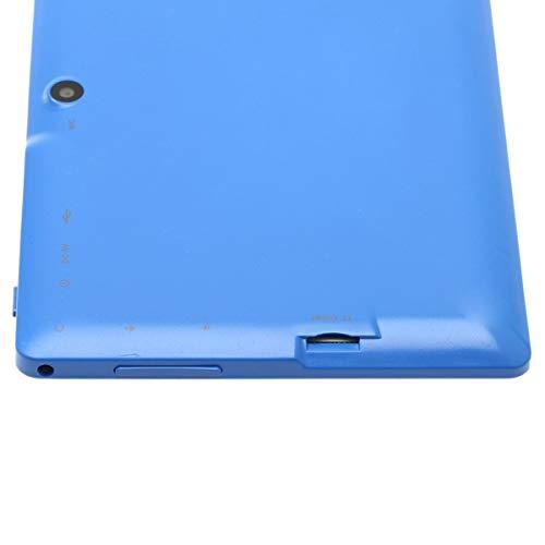 Haehne 7 Zoll Tablet PC, Google Android 4.4, Quad Core A33, 512MB RAM 8GB ROM, Dual Kameras, WiFi, Bluetooth, Kapazitiven Touchscreen, Blau