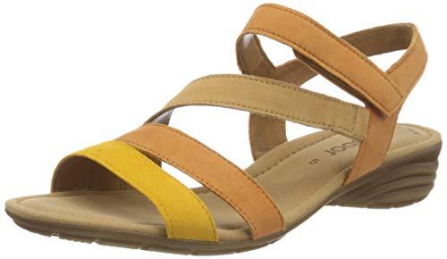 Gabor Shoes Damen Casual Riemchensandalen, Gelb (Mango/Pfirs./Düne 12), 36 EU