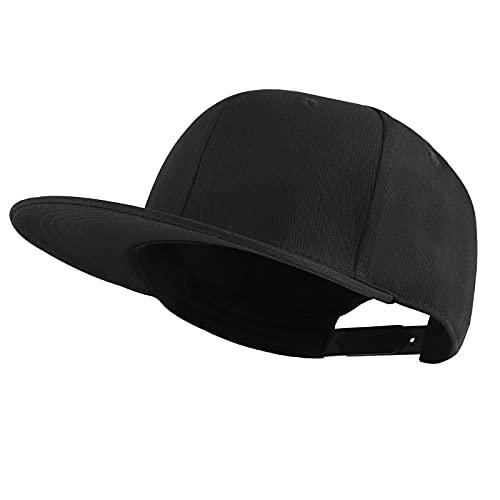 KELOYI Cappello Uomo Nero Baseball Cappellino Donna Snapback Trucker Regolabile Traspirante cap