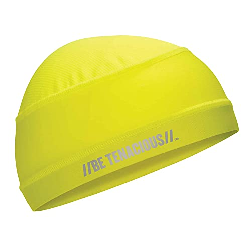 Ergodyne Chill Its 6632 Cooling Skull Cap, Sweat Wicking Helmet Liner, UPF 50 Sun Protection, Lime