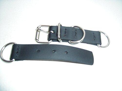 Angel for Pets MJH BioThane Halsband Verschluss verstellbar 25mm breit versch. Farben (1, schwarz)