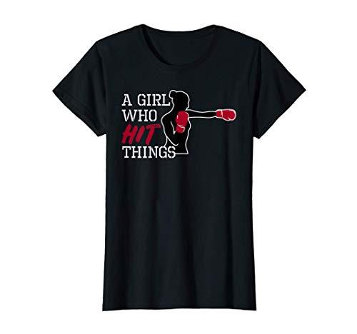 Frauen Boxen Kickboxen Handschuhe Damen Mädchen Geschenk T-Shirt