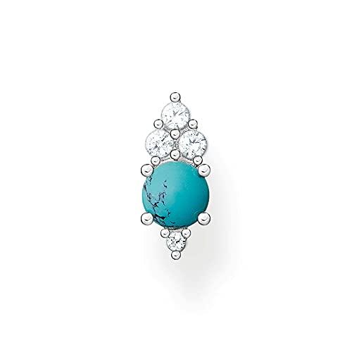 THOMAS SABO Pendientes de tuerca para mujer, plata de ley 925, piedra turquesa H2181-405-17