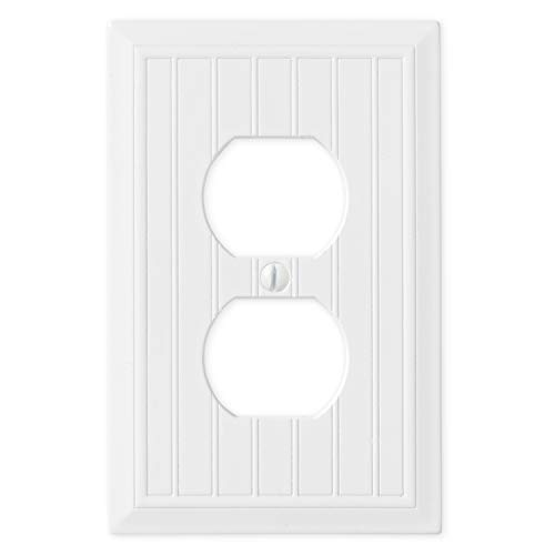 Single Duplex - White Polished Outlet Cover Cottage Decorative Light Switch Cover Wall Plate