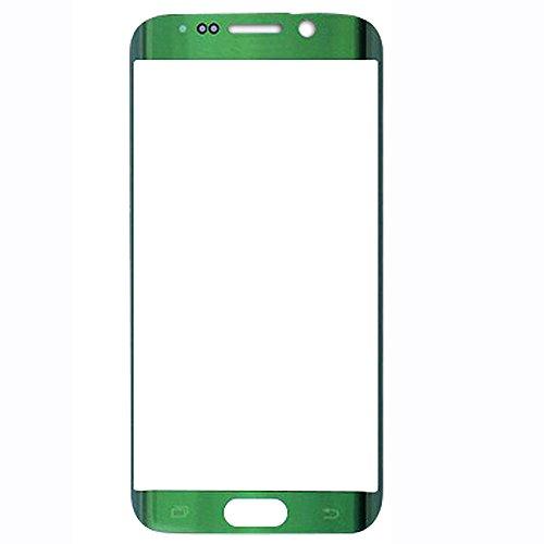 UU FIX Display Glas Front für Ersatz Samsung Galaxy S6 Edge (Grün) LCD Touch Screen Front Glas mit Werkzeugsatz(Keine Berührung und LCD).