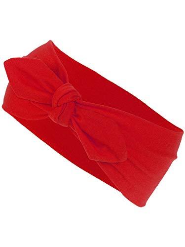 Harrys-Collection Damen Mädchen Haarband Schleife 10 Unifarben, Farben:rot, Kopfgröße:Einheitsgröße