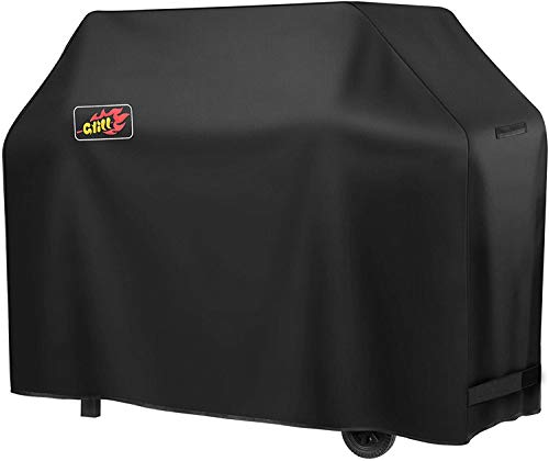 OMORC BBQ Cover, Waterproof &Heavy Duty Grill Cover, 600D Oxford Fabric, Large 3-4 Burner Barbecue Cover, Rip-Proof, Windproof(58INCH/147CM)