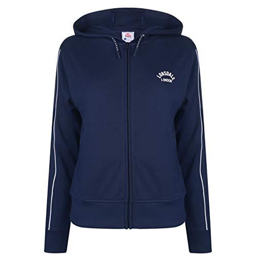 Lonsdale - Sudadera con capucha y cremallera para mujer
