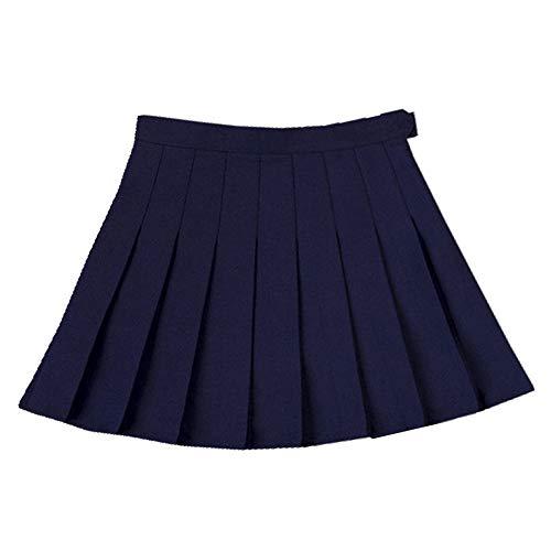 Sólido Plisado Falda De Verano De Las Mujeres De Cintura Alta Plisada Mini Faldas Slim Cintura Casual De Las Niñas De