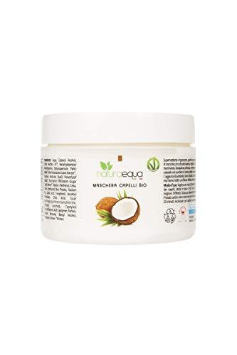 NATURAEQUA - Maschera per Capelli Rigenerante al Cocco - per Capelli Secchi e Trattati - Nutre e Dona Volume - 250 ml