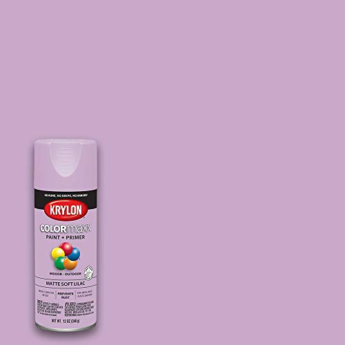 Krylon K05602007 COLORmaxx Spray Paint and Primer for Indoor/Outdoor Use, Matte Soft Lilac