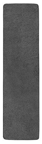 misento Shaggy Hochflor Teppich für Wohnzimmer Langflor, schadstoff geprüft 100 % Polypropylen,  grau-braun 67 x 140 cm
