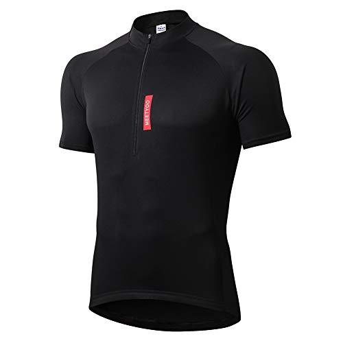 MEETYOO fietsshirt voor heren, fietsshirt met korte mouwen, fietsshirt voor fietsen, fietskleding