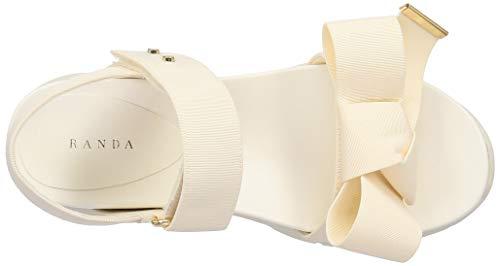 [ランダ]サンダル厚底フラットソールスポーティーサンダルレディースDR09059WHITE22.5cm2E
