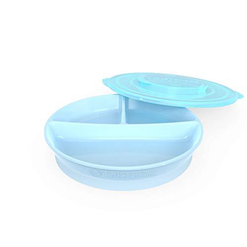 Vital Innovations 78170 Twistshake Teller mit Unterteiler, blau