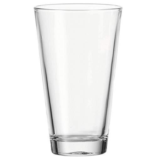Leonardo Ciao Trink-Gläser, 12er Set, Trink-Becher aus Glas, spülmaschinengeeignete Wasser-Gläser,Getränke-Set, 300 ml, 017207