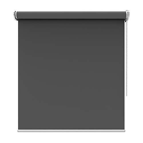 Verdunkelungsrollo - Dunkelgraue Stoffrollos für Küche/Schlafzimmer, Breite 45-140 cm, Höhe 80-200 cm, ohne Bohren (Size : 60X180cm)