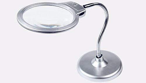 Quemador de incienso Escritorio lupa de escritorio LED de luz 10 veces 20 veces la lectura de reloj de prueba de alta definición lupa electrónica reparación de teléfonos móviles Estufa de aromaterapia